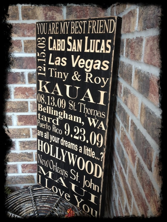Personalized subway art memory sign - you design your own - great Christmas gift