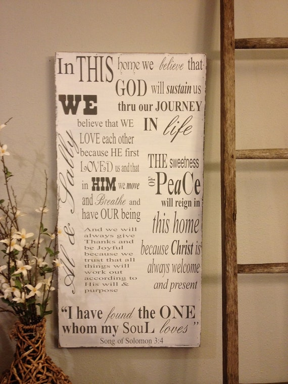 Personalized Wood Sign, extra large sign,  18x36, wedding gift, housewarming gift, favorite family quotes, rustic wedding