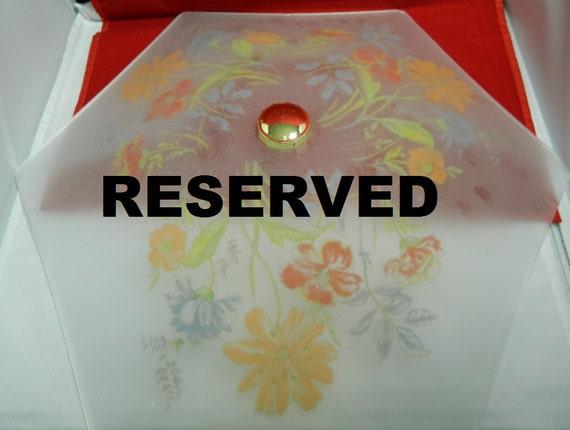 RESERVED Retro Hexagon Ceiling Light Cover