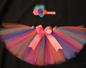 Birthday princess tutu set, custom made any size Newborn-4t