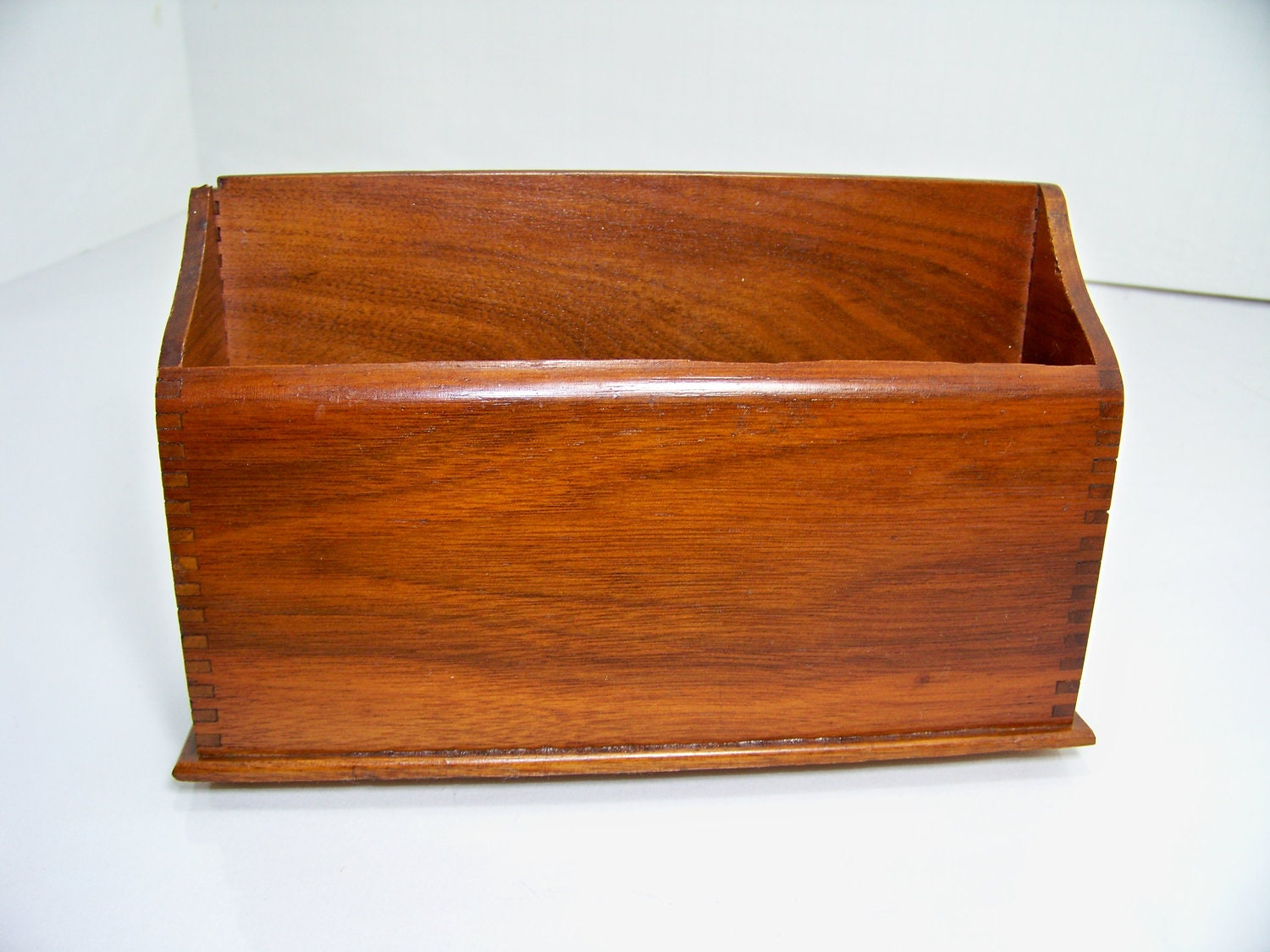 Vintage wood mail holder desk organizer - Wood desk organizer ...