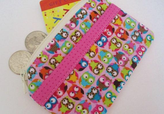 Kids Mini Wallet- Tossed Owls