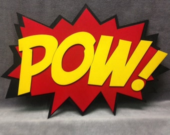 LARGE Comic Book POW Quote Wall Art/Plaque