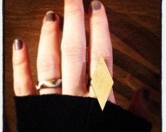 Diamond Wood Ring