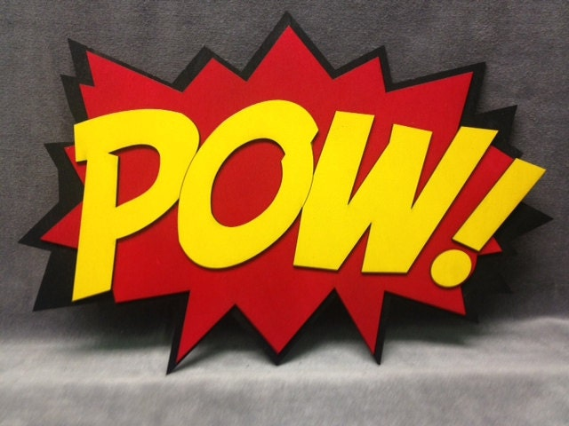 ... LARGE Comic Book POW Quote Wall Art/Plaque. 🔎zoom