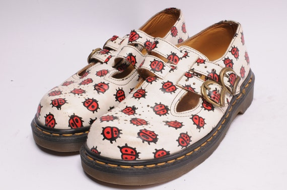 Dr. Martens Size 8 UK 2 Lady Bugs Mary Janes