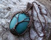 Turquoise Howlite Tree of Life Pendant