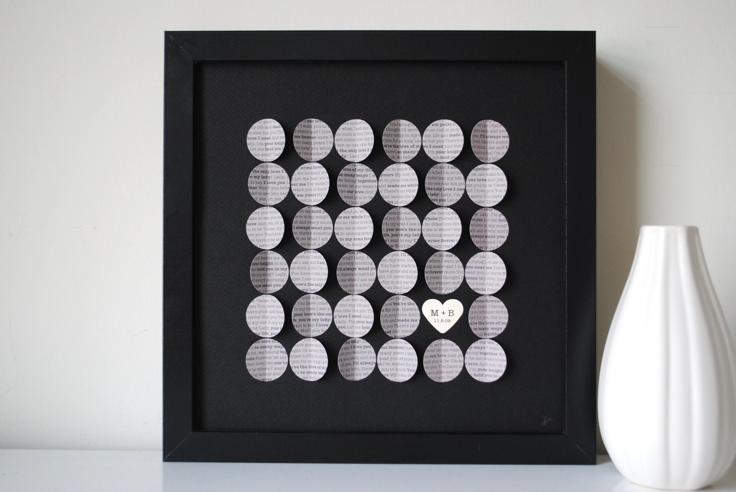 Unique Wedding Gift Personalized 3D Song Circles By SuzyShoppe