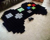 Giant pixel Xbox controller rug