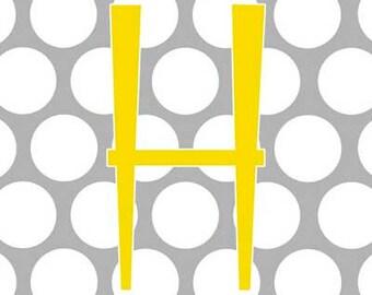 Monogram Letter Nursery Bedroom Art 5 Geometric Designs Customized 8x10 Photo Print