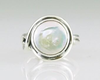 Pearl Earth Wrap Ring