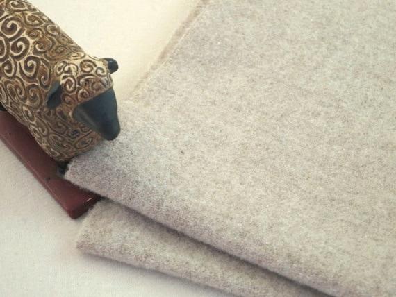 Oatmeal Wool Fabric, Fat 1/8 yd, J328