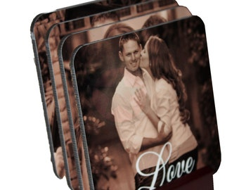 PHOTO GIFTS- Personalized  Photo Coasters-Great Housewarming,Wedding,Birthday gifts to give.