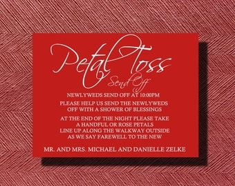 Custom Designed Wedding Petal Toss Send Off Sign