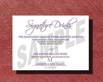 Wedding Signature Drink Sign