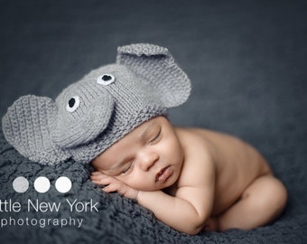 newborn photo prop, elephant newborn/ baby hat, newborn boy, newborn girl, newborn knit hat, newborn props, hat, baby hat, newborn boy prop