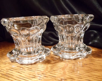 Very Elegant Vintage Crystal  Clear Cut REMIS Glass Egg Holder Cup