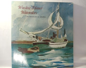 Book of Winslow Homer Watercolors Ilastrations by Doneleson F Hoopes