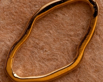 Gold Vermeil Handcrafted Artisan baroque link No. B90vm