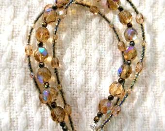 Triple strand bracelet