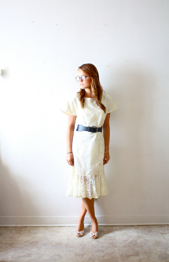 Vintage lace party/ casual simple wedding dress