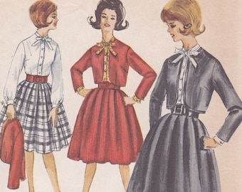 Simplicity 4576 Skirt Jacket and Blouse sewing pattern Size 12 bust 32 1960s