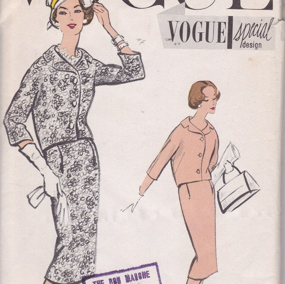 Vogue Special Design 4867 suit sewing pattern from 1958 Size 12 bust 32 hip 34 uncut