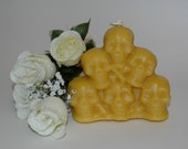 Pure Beeswax Pile of Skulls Candle - Skulls Candle for the Goth in You -  Halloween Candle - Day of the Dead