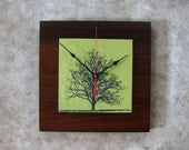 Under the Shade Tree Clock, Reclaimed Wood, Wedding Gift, Natural Clock, Eco Friendly