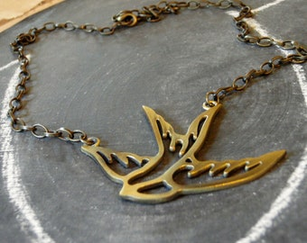 Flying Sparrow Necklace