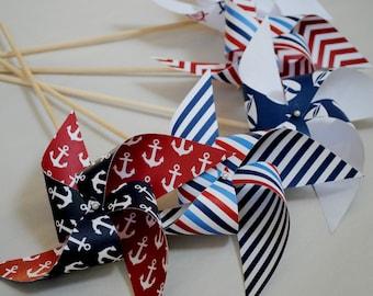 Nautical pinwheels
