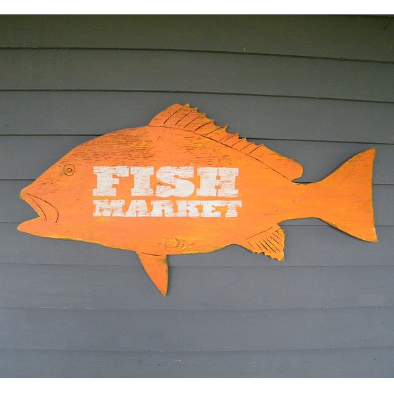 Trade Sign Wall Art Beach Coastal Sign Fish Decor Outdoor Options