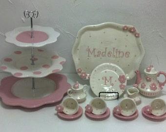 Little Miss Lovely tea set