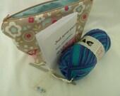 Sock Knitting Kit in a Zippy Pouch