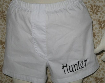 Personalized  Baby Boys Boxer Diaper Cover Harrington Font Name or Monogram Baby Boy Gift