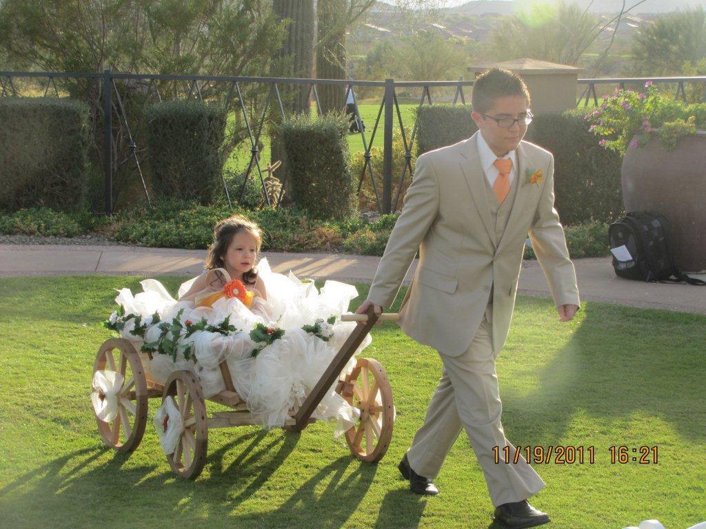 Flower girl wagon | Things I made for Meg's wedding ... |Flower Girl Wagon Wedding Party