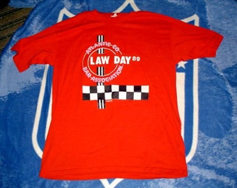 1989 Law Day Atlantic County New Jersey Bar Association vintage t shirt large Thunderbird