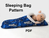 Doll Sleeping Bag PDF FITs ANY DOLL or best friend your child loves Accessories Pattern Tutorial