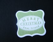 Christmas tags. scrapbooking. paper goods. gift tags. set of 25