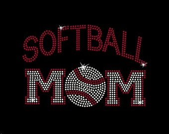 Women's rhinestone Softball Mom shirt