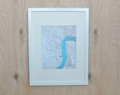 25% OFF- New Orleans City Vintage Map Print, 8x10 LA