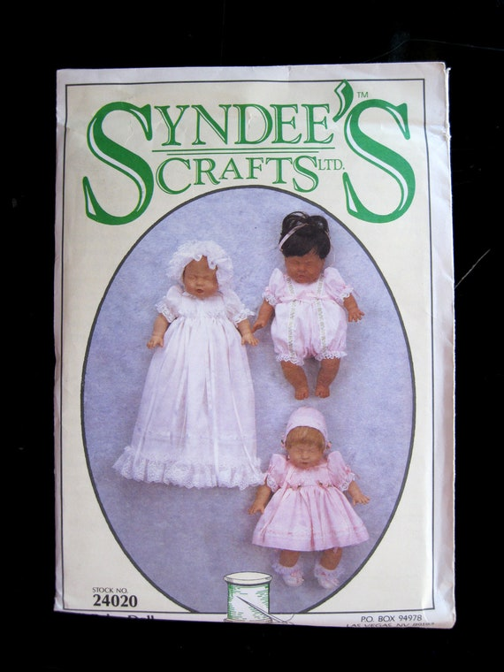 Syndees Baby Doll Clothes Wardrobe, 12 inch Dolls, Syndees 24020, NEW SEALED Rompers, Dresses, Bonnets, etc. 1994
