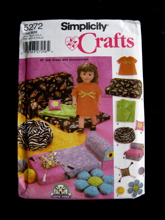 18 Inch Doll Accessory Pattern Simplicity 5272 Uncut Ff 1999