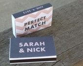 1 Match Box Favor - Additional Quantities Available - 14 Pre-Designed Styles