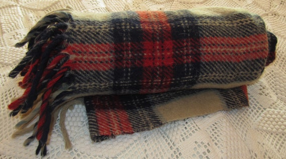 Red, White and Blue Wool Throw
