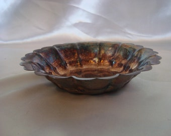Vintage Silver Bowl Silverplate Finger Bowl Candy Dish