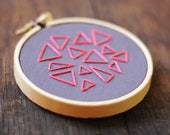 Mini Triangle Traffic Hand Embroidery