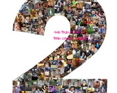 Reserved 20 x 30 Number 3 Personalized Photo Collage