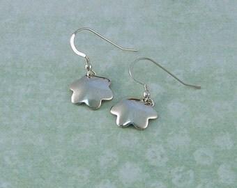 Handmade Silver Flower Earrings, Handmade Silver Earrings, Silver Dangle Earrings, Flower Dangle Earrings, Unique Handmade Gift