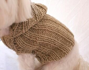 PDF DIGITAL PATTERN:Dog Hoodie Pattern,Dog Clothes Pattern,Dog Hoodies,Small Dog Hoodie,Hoodie Dog Sweater Pattern,Knit Dog Hoodie Pattern
